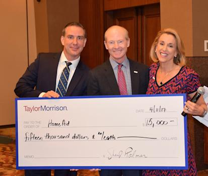 Taylor Morrison Recognizes HomeAid America as 2017 Corporate Charity