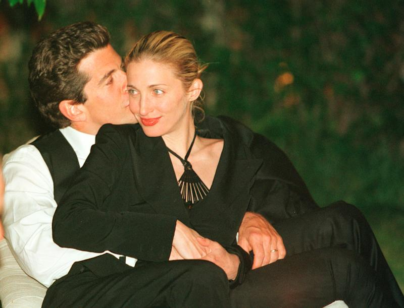 John F. Kennedy, Jr. and wife Carolyn Bessett-Kenney, pictured here in 1999, died in a plane crash off the coast of Martha's Vineyeard in 1999. (Photo: Getty Images)