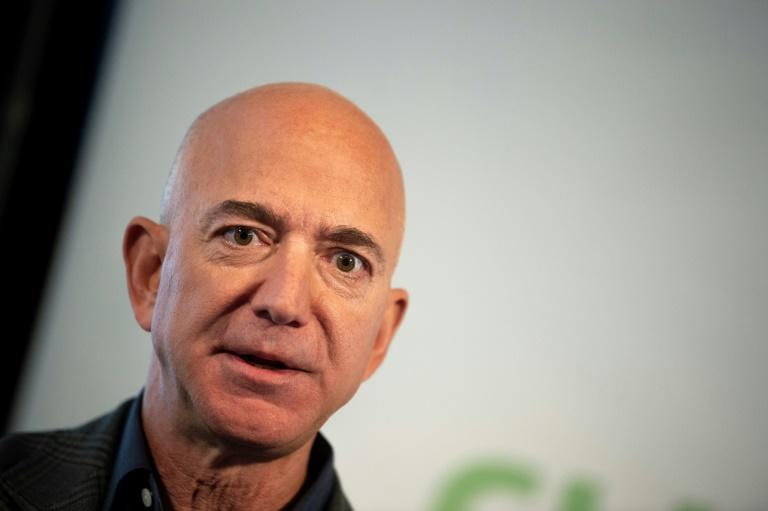 Amazon Founder and CEO Jeff Bezos speaks on company sustainability efforts on September 19, 2019 in Washington; Amazon is the latest company to be sued under a US law for profiting from property seized by Cuba's communist government