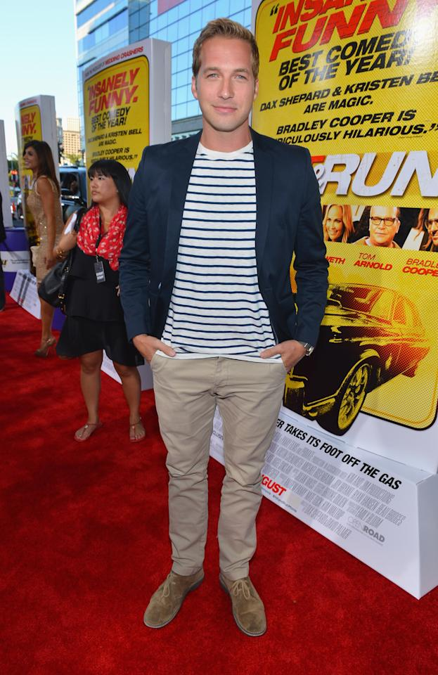 """LOS ANGELES, CA - AUGUST 14:  Actor Ryan Hansen arrives to the premiere of Open Road Films' """"Hit and Run"""" on August 14, 2012 in Los Angeles, California.  (Photo by Alberto E. Rodriguez/Getty Images)"""