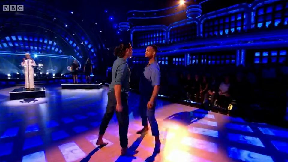 'Strictly Come Dancing' received almost 200 complaints when professionals Johannes Radebe and Graziano di Prima danced together earlier this month (BBC)