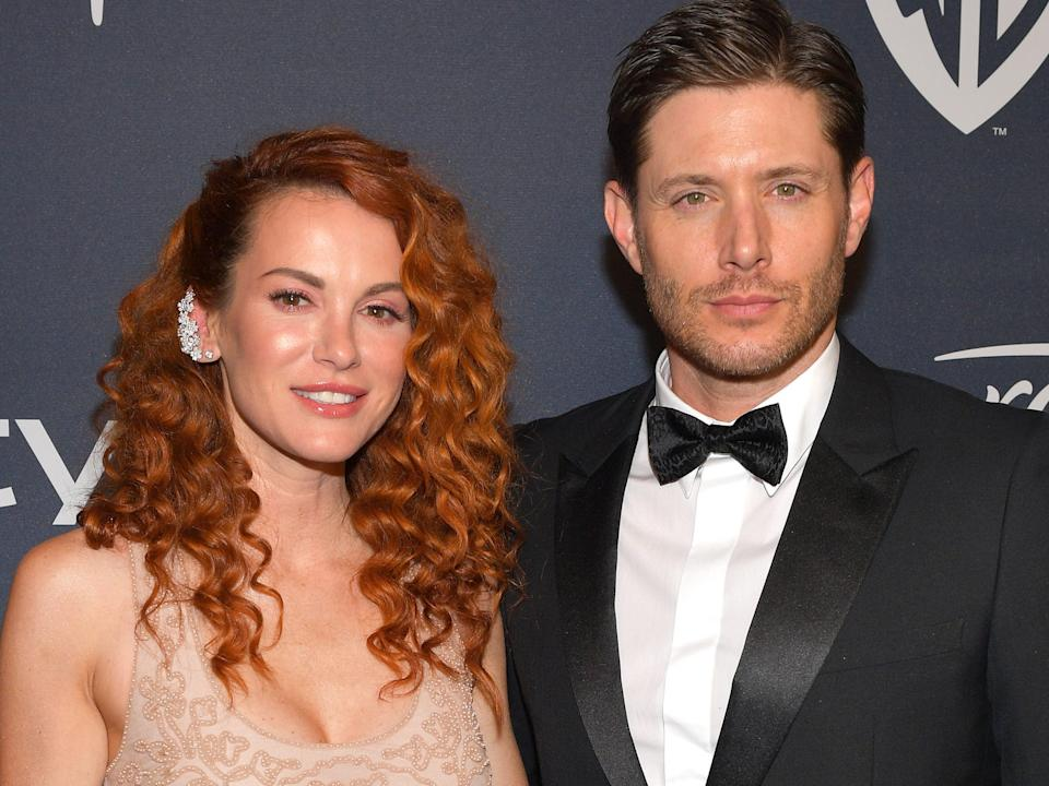 Danneel Ackles and Jensen Ackles in January 2020.