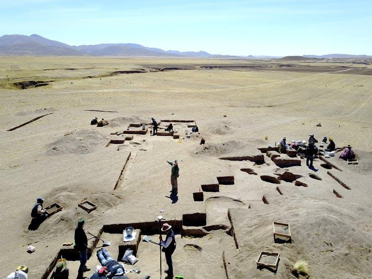 Picture of the excavations at Wilamaya Patjxa.