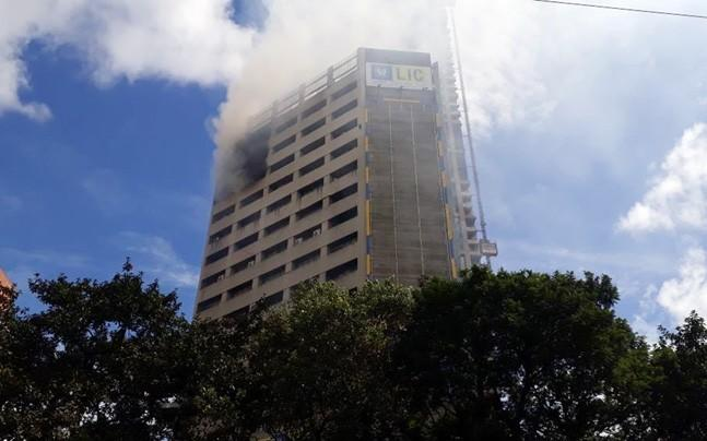<p>The fire was reported from the server room of an office on the 15th floor of the building.</p>