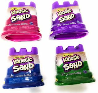 Kinetic sand in neon colors and small packages