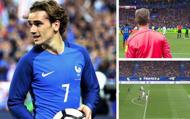 The video assistant referee was put to good use in friendly between France and Spain