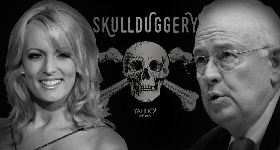 Stormy Daniels and Ken Starr (Photo illustration: Yahoo News; photos: AP)