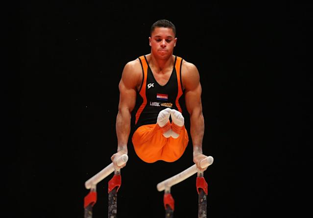 <p>Since starting on the international stage as a 17-year-old in 2005, Wammes has been one of the top Dutch gymnasts. Injuries, though, have limited him and Rio will be his first time at the Olympics. He came out as gay in 2011. (Getty) </p>