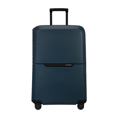 """<p><a class=""""link rapid-noclick-resp"""" href=""""https://www.samsonite.co.uk/magnum-eco-spinner-75cm--midnight-blue/139847-1549.html?cgid=luggage_suitcases"""" rel=""""nofollow noopener"""" target=""""_blank"""" data-ylk=""""slk:SHOP"""">SHOP</a></p><p>There's a reason Samsonite has endured. Tough, spacious and without unnecessarily frills: the luggage that'll get you from A to Bermuda, so to speak. And better yet, it'll outlast the next big travel trend (and the one after that, too). </p><p>Magnum Eco Spinner, £195, <a href=""""https://www.samsonite.co.uk/magnum-eco-spinner-75cm--midnight-blue/139847-1549.html?cgid=luggage_suitcases"""" rel=""""nofollow noopener"""" target=""""_blank"""" data-ylk=""""slk:samsonite.co.uk"""" class=""""link rapid-noclick-resp"""">samsonite.co.uk</a></p>"""