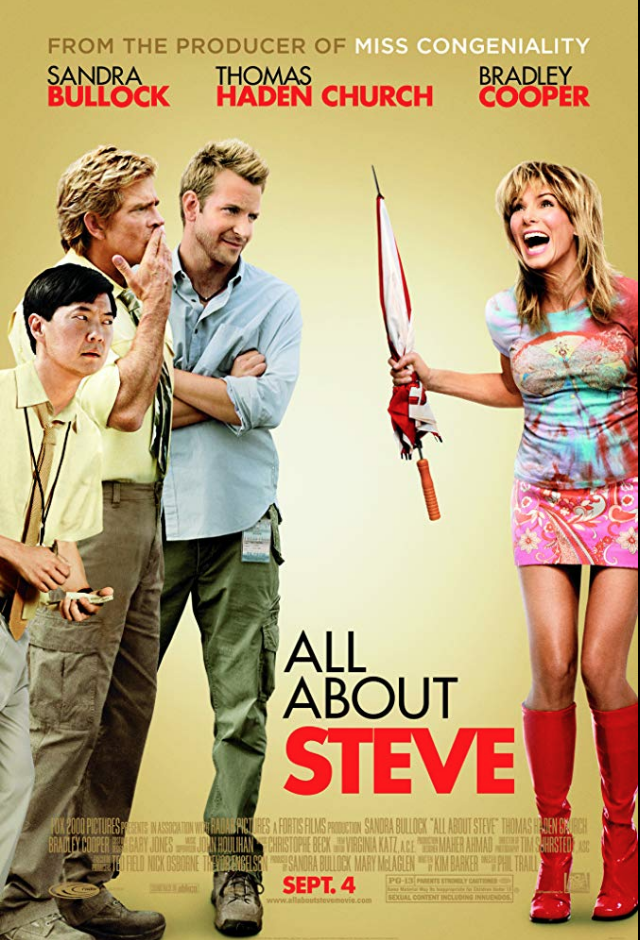 "<p>Sandra Bullock picked up a Razzie for her role in <em>All About Steve</em>, a romantic comedy, also starring Bradley Cooper, which failed to earn more than <a href=""https://www.imdb.com/title/tt0881891/"" rel=""nofollow noopener"" target=""_blank"" data-ylk=""slk:$40 million at the box office"" class=""link rapid-noclick-resp"">$40 million at the box office</a>. It <em>did </em>earn a profit, but the film was critically panned.</p>"