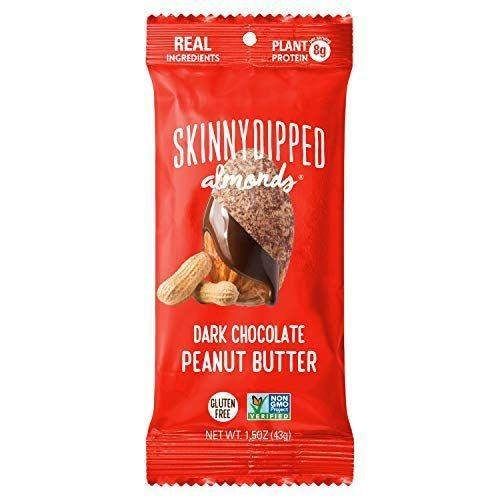 """<p><strong>SKINNYDIPPED</strong></p><p><strong>$38.50</strong></p><p><a href=""""http://www.amazon.com/dp/B07PHVHQCJ/?tag=syn-yahoo-20&ascsubtag=%5Bartid%7C10049.g.37809095%5Bsrc%7Cyahoo-us"""" rel=""""nofollow noopener"""" target=""""_blank"""" data-ylk=""""slk:Shop Now"""" class=""""link rapid-noclick-resp"""">Shop Now</a></p><p>I'm fully obsessed with all things from this snack brand (especially their dark chocolate and salted caramel <a href=""""https://www.amazon.com/SKINNYDIPPED-Chocolate-Caramel-Cashews-Resealable/dp/B085S7S8N5?tag=syn-yahoo-20&ascsubtag=%5Bartid%7C10049.g.37809095%5Bsrc%7Cyahoo-us"""" rel=""""nofollow noopener"""" target=""""_blank"""" data-ylk=""""slk:cashews"""" class=""""link rapid-noclick-resp"""">cashews</a>). But their newest treat is chocolate and peanut butter almonds, which makes for a very ~sweet~ gift.</p>"""