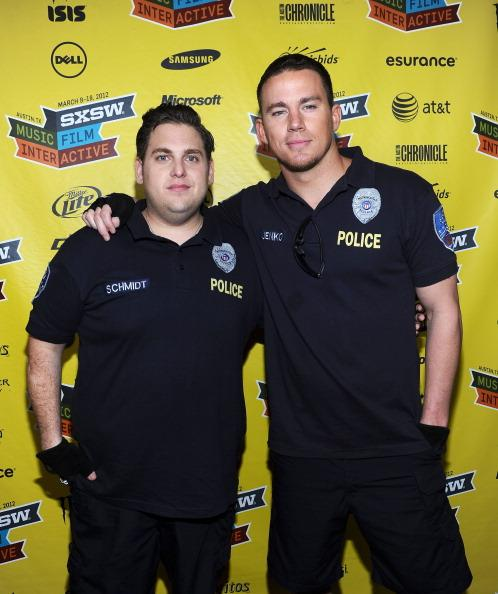 AUSTIN, TX - MARCH 12: Actor Jonah Hill (L) and actor Channing Tatum attend the World Premiere of '21 Jump Street' during the 2012 SXSW Music, Film   Interactive Festival at Paramount Theatre on March 12, 2012 in Austin, Texas.