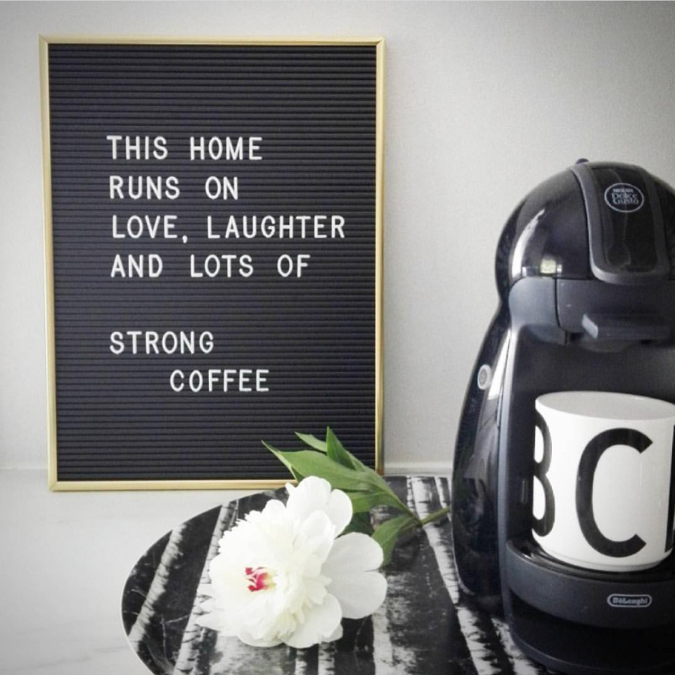 <p>For anyone and everyone – Oh Happy Fry black retro letter board ($80)</p>