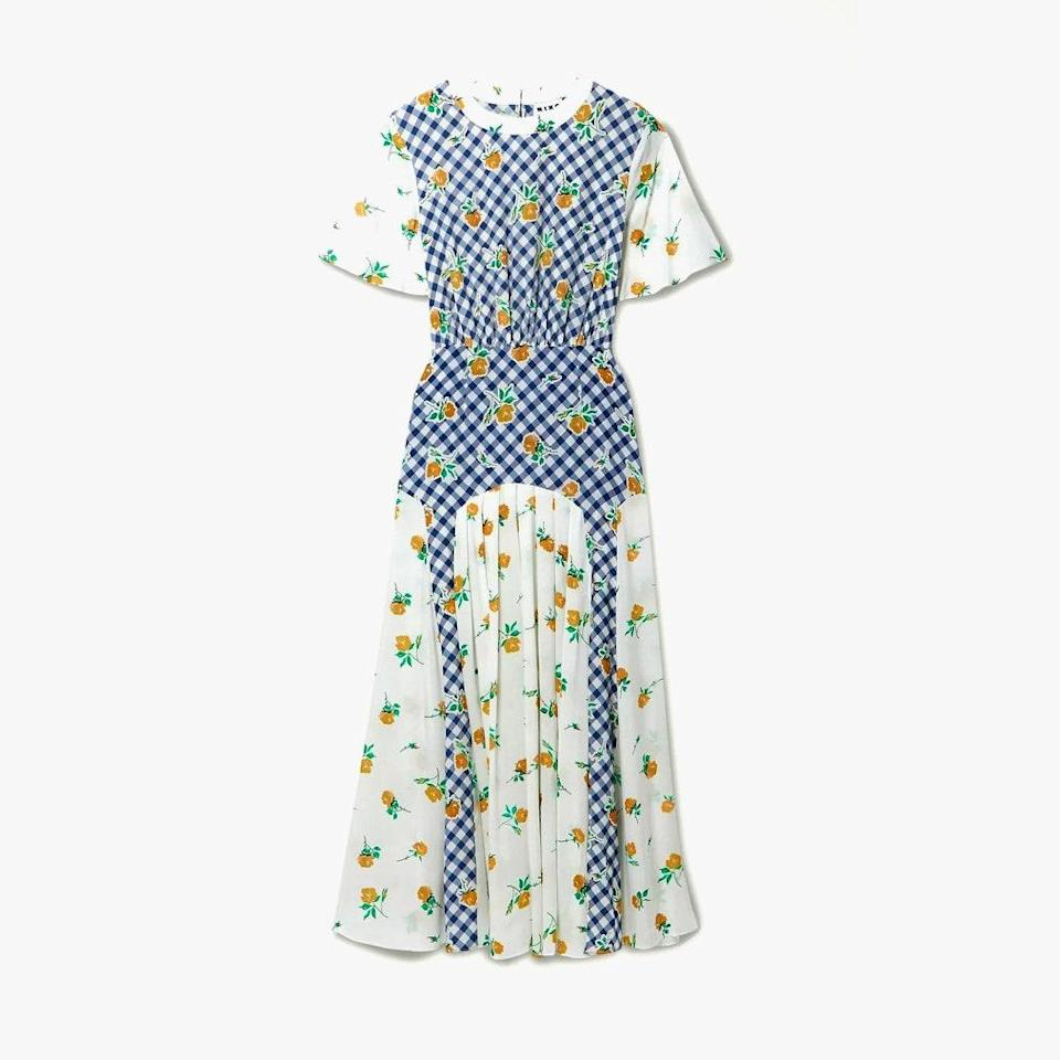 "$385, NET-A-PORTER. <a href=""https://www.net-a-porter.com/en-us/shop/product/rixo/clothing/midi-dresses/jennifer-paneled-printed-silk-crepe-midi-dress/2204324139869472"" rel=""nofollow noopener"" target=""_blank"" data-ylk=""slk:Get it now!"" class=""link rapid-noclick-resp"">Get it now!</a>"