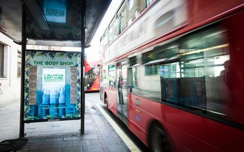 Airlabs unveiled a series of 'anti-pollution bus stops' in London in 2017 - Credit: Airlabs