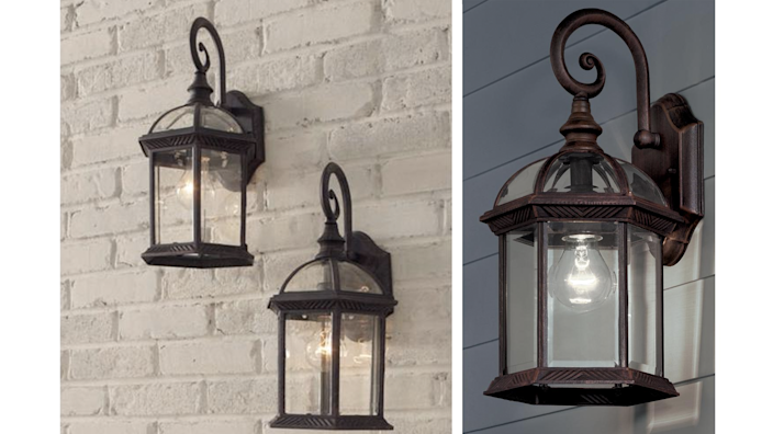 These elegant sconces will add a touch of character and class to even the newest and most neutral exterior wall