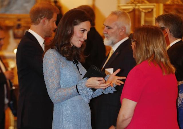 A first look at Kate Middleton's baby bump. (Photo: Heathcliff O'Malley/AFP/Getty Images)