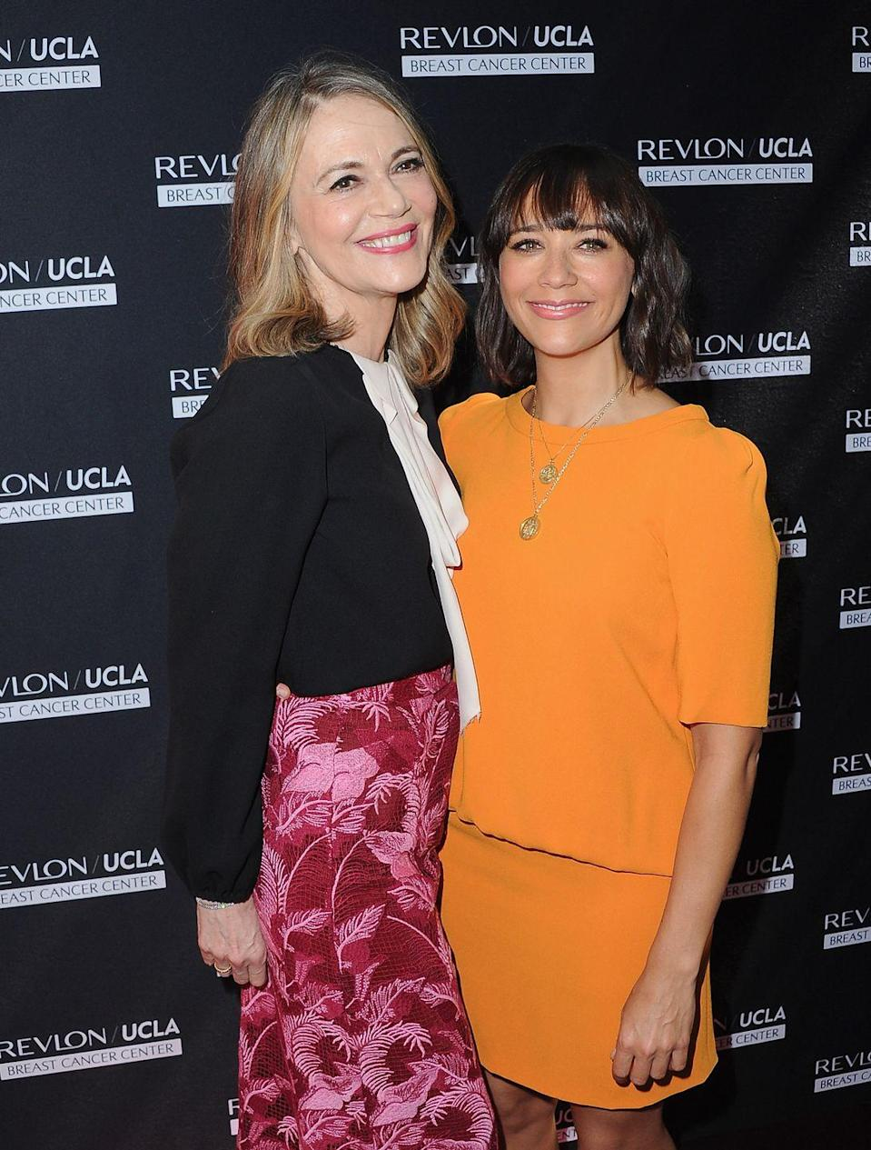 <p>Actress Rashida Jones inherited the blessed genetics of her late mother, actress Peggy Lipton—especially that megawatt smile.</p>
