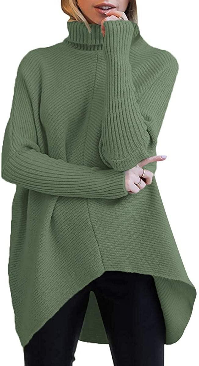 <p>The green shade of this <span>Turtleneck Long Sleeve Sweater</span> ($36) is so pretty.</p>
