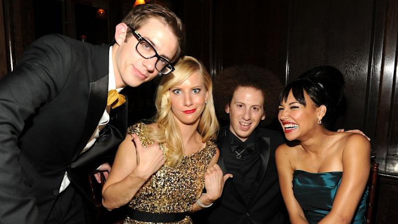 Actors Kevin McHale, Heather Morris, Josh Sussman, and Naya Rivera