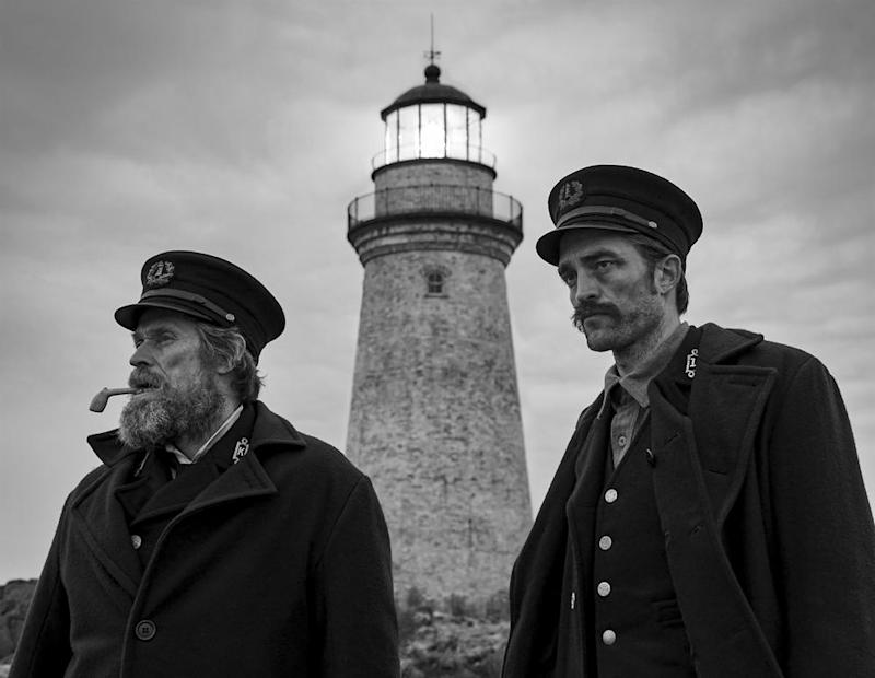 Willem Dafoe, left, and Robert Pattinson in The Lighthouse.
