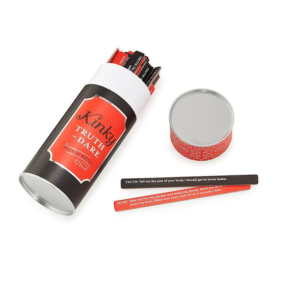 """<p><strong>UncommonGoods</strong></p><p>uncommongoods.com</p><p><strong>$14.95</strong></p><p><a href=""""https://go.redirectingat.com?id=74968X1596630&url=https%3A%2F%2Fwww.uncommongoods.com%2Fproduct%2Fkinky-truth-or-dare&sref=https%3A%2F%2Fwww.menshealth.com%2Ftechnology-gear%2Fg35220362%2Fbest-husband-gifts%2F"""" rel=""""nofollow noopener"""" target=""""_blank"""" data-ylk=""""slk:Shop Now"""" class=""""link rapid-noclick-resp"""">Shop Now</a></p><p>Tame card games are fun, but on Valentine's Day, you might want to go the extra mile. This kinky version of truth or dare will give you and the husband plenty to do if you're staying inside this Valentine's Day.</p>"""