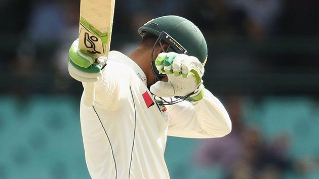 Khawaja could face a fine over his celebration. Pic: Getty