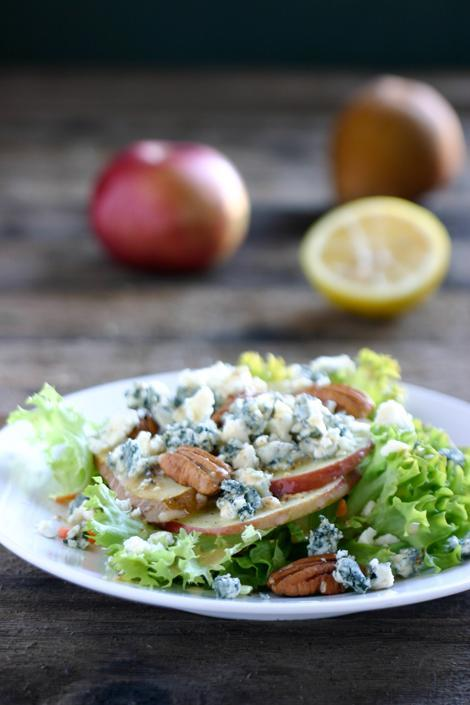 """<div class=""""caption-credit""""> Photo by: Angie McGowan</div><b>Apple Pear Gorgonzola Salad <br></b> This salad features fresh apples, pears and Gorgonzola. The dressing is very light, made with Dijon mustard, apple cider and lemon juice. It's a perfect light salad to help with your New Year's resolutions of healthy eating. <br> <a href=""""http://www.babble.com/best-recipes/healthy-holiday-15-eye-catching-salad-recipes/#apple-pear-gorgonzola-salad"""" rel=""""nofollow noopener"""" target=""""_blank"""" data-ylk=""""slk:Get the recipe"""" class=""""link rapid-noclick-resp""""><i>Get the recipe</i></a> <br> <b><i><a href=""""http://www.babble.com/best-recipes/100-calorie-midnight-snacks-7-crazy-cool-noshes/"""" rel=""""nofollow noopener"""" target=""""_blank"""" data-ylk=""""slk:Related: 100-calorie snacks for your next midnight craving"""" class=""""link rapid-noclick-resp"""">Related: 100-calorie snacks for your next midnight craving</a></i></b>"""