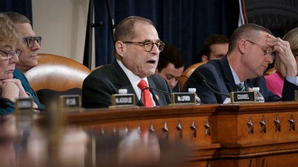 PHOTO: House Judiciary Committee Chairman Jerrold Nadler, D-N.Y., convenes the panel to hear investigative findings in the impeachment inquiry against President Donald Trump, on Capitol Hill, Dec. 9, 2019. (J. Scott Applewhite/AP)