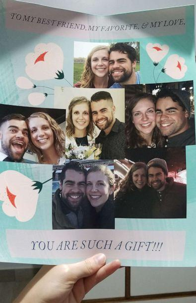 PHOTO: Nick Boucher planned an elaborate proposal to pop the question to girlfriend Emily Weindorf on her flight home. (Nick Boucher)