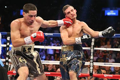 Danny Garcia wallops Rod Salka in their August 2014 bout. (Getty Images)