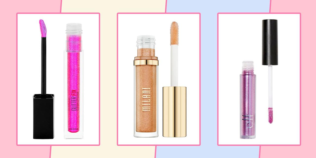 """<p>As a wave of <a rel=""""nofollow"""" href=""""https://www.seventeen.com/fashion/trends/g25703576/2000s-fashion-trends/"""">early 2000s fashion</a> hits your closet like a freaking train, your makeup collection is somehow still stuck in 2018. Honey, it's 2019 now – which means it's actually 2003 – and all those retro trends are officially back. Give your matte lipsticks a break, because frosted gloss is going to have a major moment this year. </p><p>Every celeb from Rihanna to Kylie Jenner (ie: the ones who <em>really </em>know makeup) is rocking glitter lip gloss right now, but that doesn't mean you've got to go all in. Throw $10 at this trend and you'll be sparkling with the best of them. </p><p>To help you reach your ultimate '00s potential, I've sourced the best drugstore lip glosses under ten. Keep scrolling for the best of the best. <em></em></p>"""