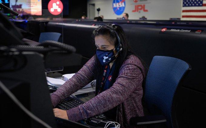 Dr Swati Mohan has been a part of the Mars mission for eight years now, and has earlier been involved in NASA's Cassini mission to Saturn as well as the GRAIL mission to the moon | Image: Twitter