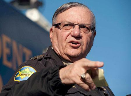 FILE PHOTO: Maricopa County Sheriff Joe Arpaio announces newly launched program aimed at providing security around schools in Anthem, Arizona, U.S. January 9, 2013. REUTERS/Laura Segall/File Photo