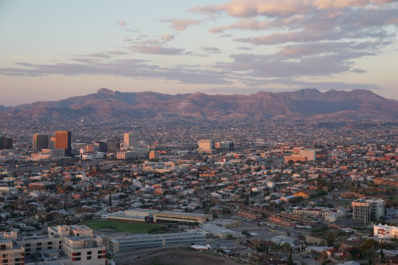 Just beyond the tall buildings of downtown El Paso, Texas, is Juárez Mexico and the Sierra Madre mountain range. (Laura Bassett)