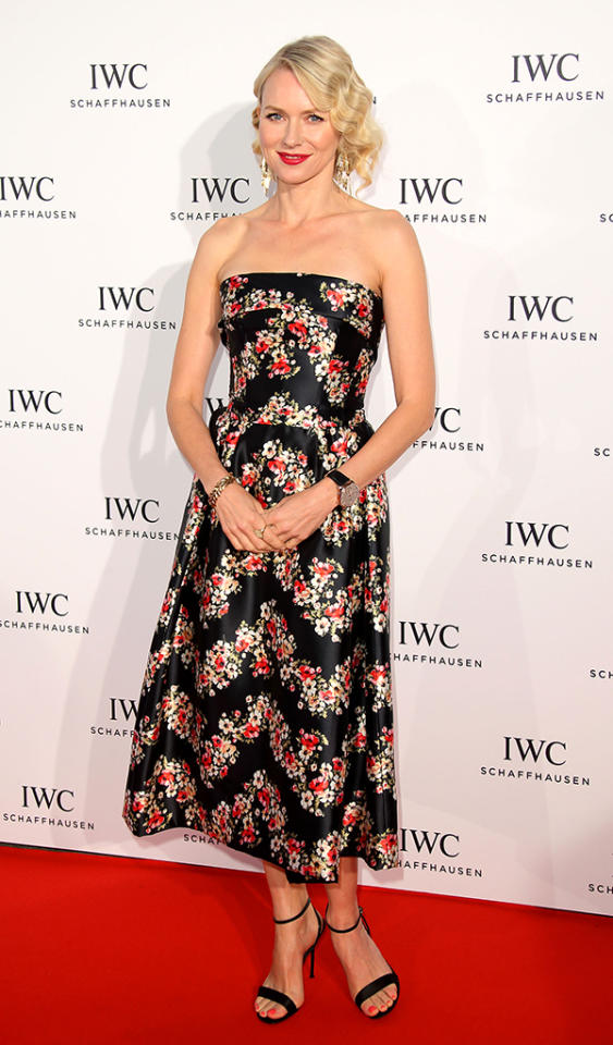 CANNES, FRANCE - MAY 19:  Naomi Watts attends the IWC FilmMakers dinner during The 66th Annual Cannes Film Festival on May 19, 2013 in Cannes, France.  (Photo by Mike Marsland/WireImage)