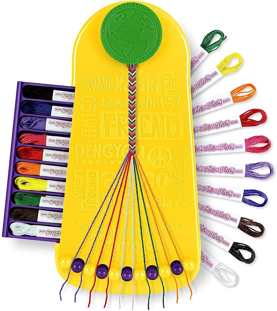 <p>This <span>My Friendship Bracelet Maker Kit</span> ($23) is a fun activity for them and their friends.</p>
