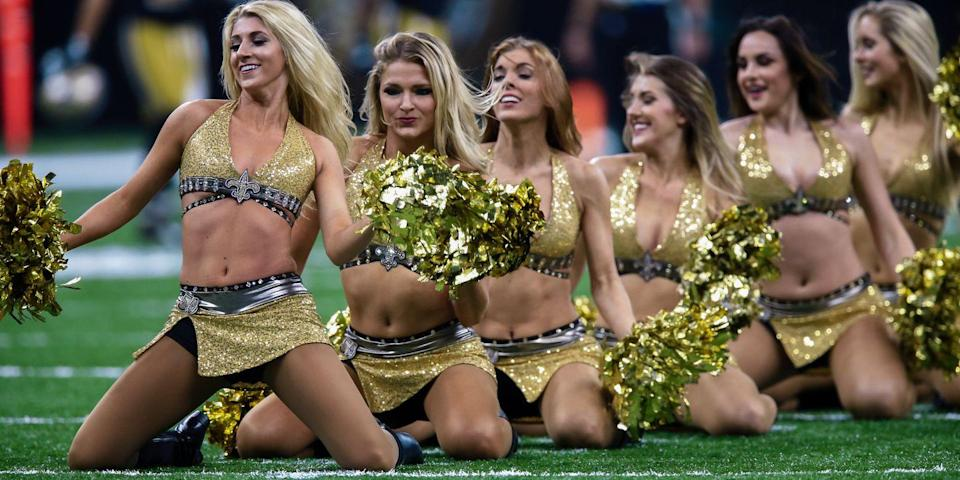 New Orleans Saints cheerleaders. (Photo: Getty Images)