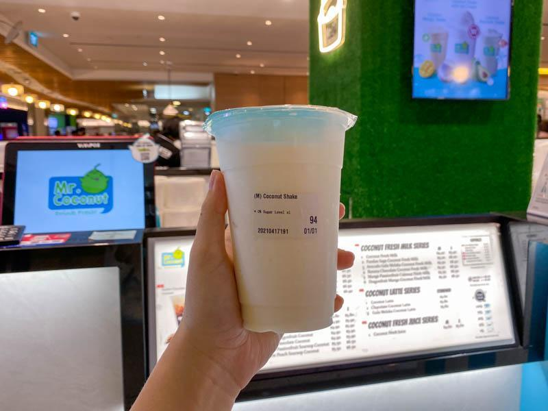 Cup of coconut shake