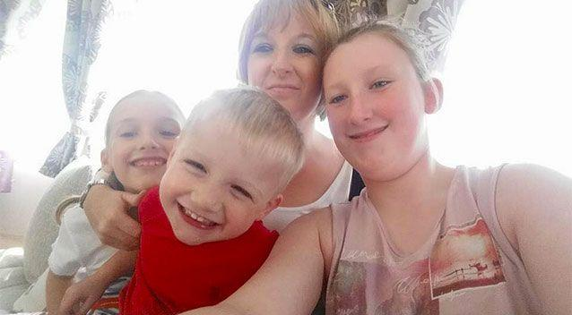 The mother, who often suffered seizures, said all three of her children know to call the UK emergency services number triple-9 if she ever collapses. Picture: Gemma Onions/Facebook