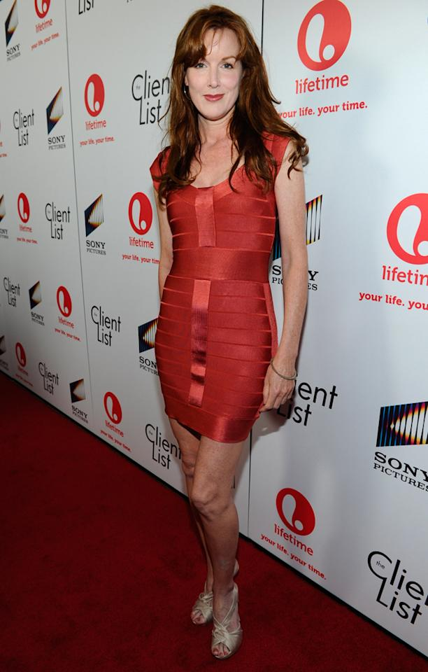 "Kathleen York attends the launch party for Lifetime's ""<a href=""http://tv.yahoo.com/client-list/show/47678"">The Client List</a>"" at Sunset Tower on April 4, 2012 in West Hollywood, California."