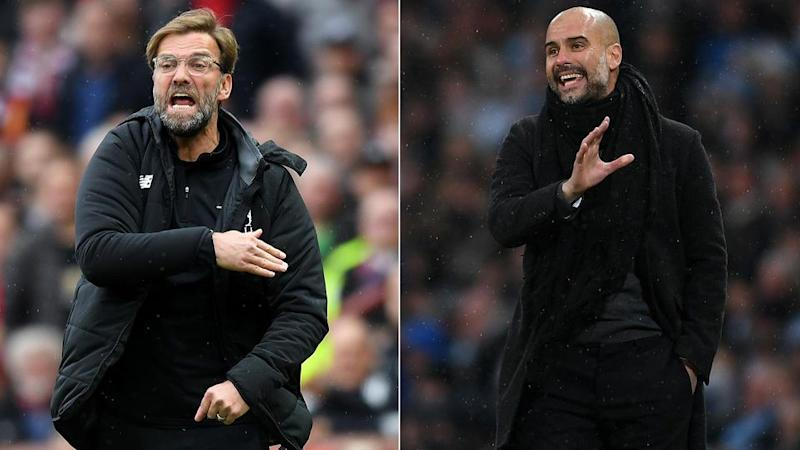 Will it be Klopp or Guardiola who comes out on top in Europe? Pic: Getty