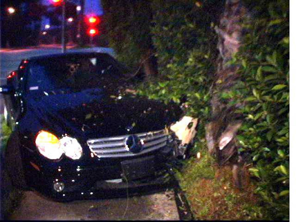"After a night of partying hard, Lindsay crashed her car at 5:30 am on Sunset Boulevard. She was arrested on a misdemeanor charge of driving under the influence of alcohol. <a href=""http://www.x17online.com"" target=""new"">X17 Online</a> - May 26, 2007"