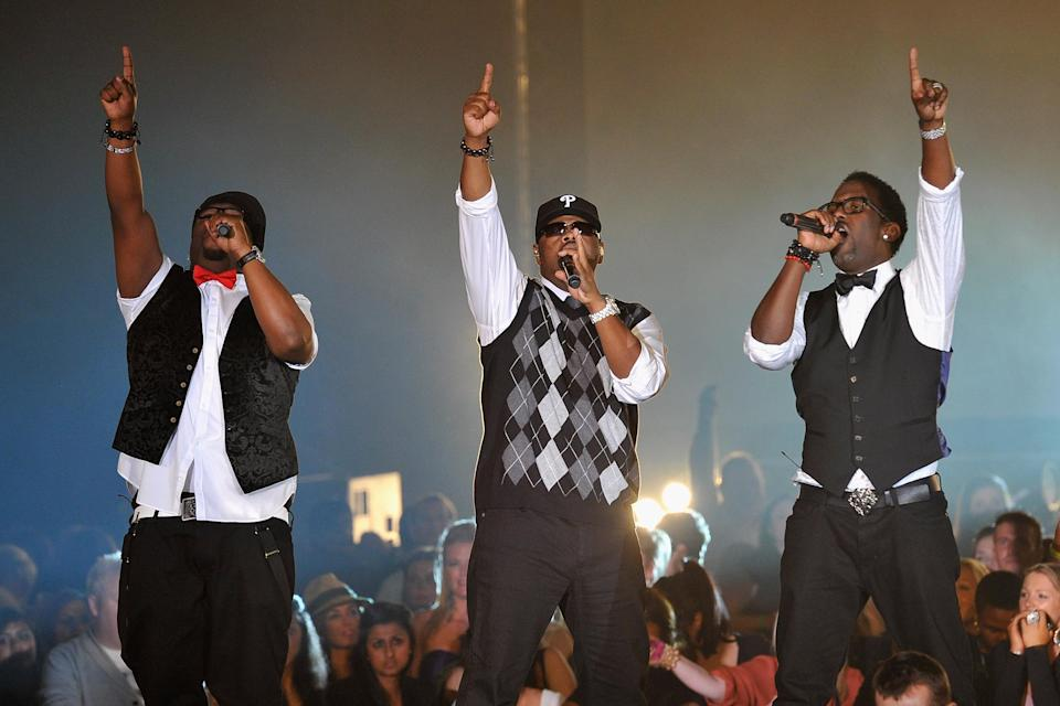 "<b>Boys II Men:</b> ""Our thoughts and prayers go out to the victims and families affected by this terrible incident in #Aurora. We're speechless. #aurorashooting"" (Photo by Gareth Cattermole/Getty Images)"