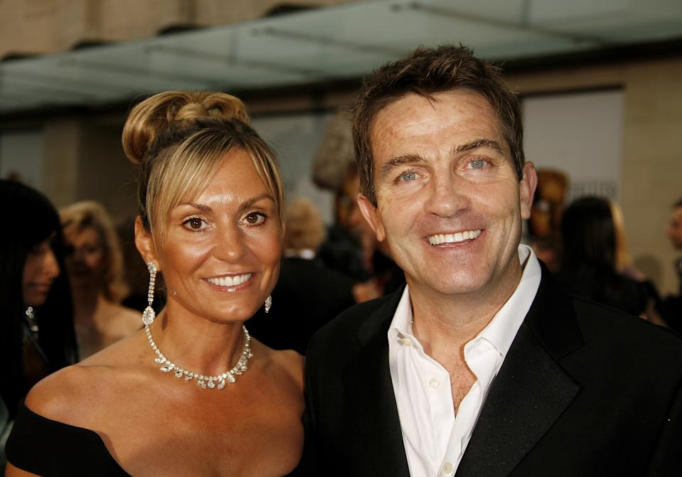 LONDON - MAY 07: (UK TABLOID NEWSPAPERS OUT) Actor Bradley Walsh and his wife Donna arrive at the Pioneer British Academy Television Awards 2006 at the Grosvenor House Hotel on May 7, 2006 in London, England. (Photo by Gareth Davies/Getty Images)