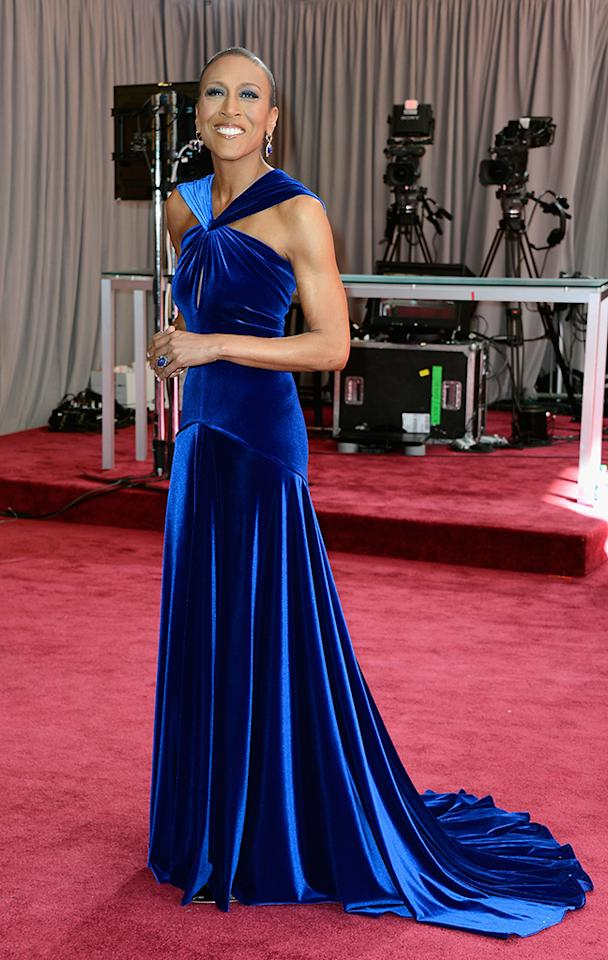 Robin Roberts arrives at the Oscars in Hollywood, California, on February 24, 2013.