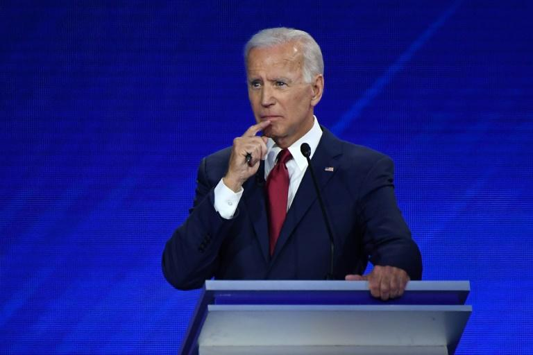 Democratic presidential hopeful Joe Biden is 76 and prone to occasional verbal gaffes (AFP Photo/Robyn BECK)