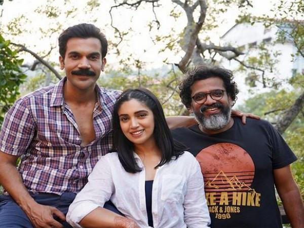 Rajkummar Rao, Bhumi Pednekar, Harshavardhan Kulkarni after wrapping up 'Badhaai Do' (Image Source: Instagram)