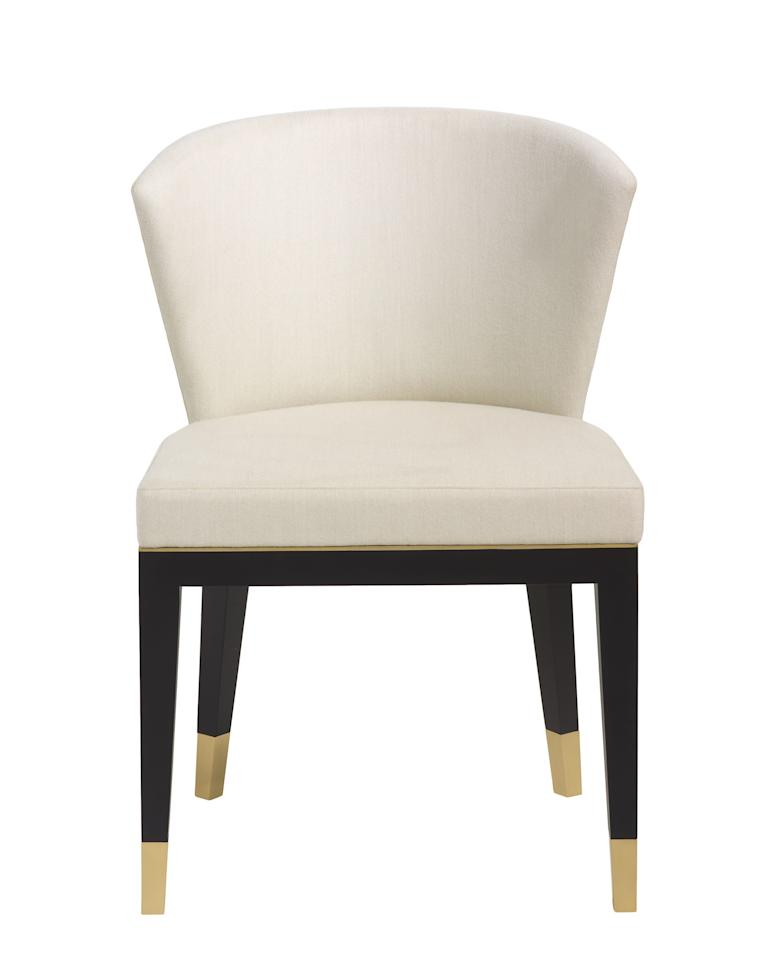 """<p>The Fielding dining chair.</p><p><b>More: <a rel=""""nofollow"""" href=""""http://www.architecturaldigest.com/gallery/best-gray-rooms-neutral-color-paint-inspiration?mbid=synd_yahoolife"""">41 Exquisite Gray Rooms</a></b></p>"""