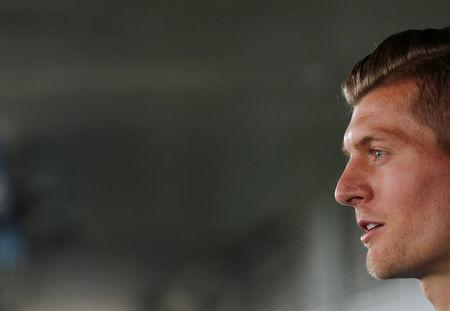 Soccer Football - Champions League - Real Madrid Press Conference - Real Madrid City, Madrid, Spain - May 22, 2018 Real Madrid's Toni Kroos during the press conference REUTERS/Sergio Perez